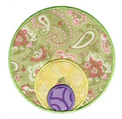Triple Circle Applique Patch embroidery design