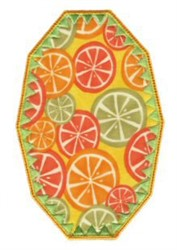 Orange Slice Applique Patch embroidery design