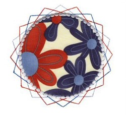 Circular Applique Patch embroidery design