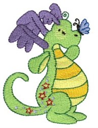 Daring Dragons embroidery design
