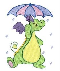 Daring Dragon & Umbrella embroidery design