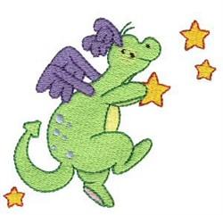 Daring Dragon Among Stars embroidery design