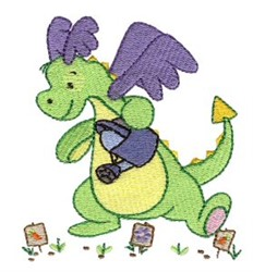 Gardening Daring Dragon embroidery design