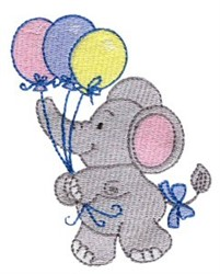Little Nellie & Balloons embroidery design