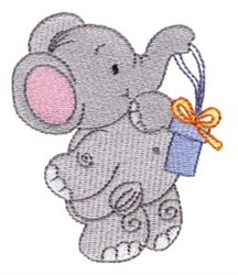 Little Nellie & Gift embroidery design