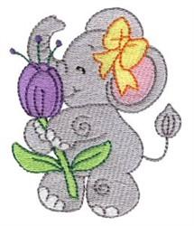 Little Nellie & Flower embroidery design