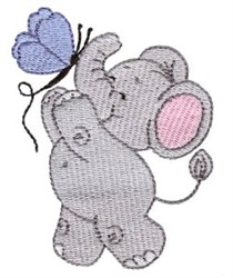 Little Nellie & Butterfly embroidery design