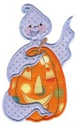 Applique Pumpkin & Ghost embroidery design