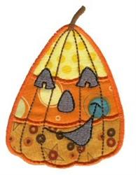 Candy Corn Pumpkin Applique embroidery design