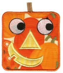 Square Jack-O-Lantern Applique embroidery design