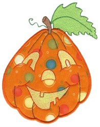 Cute Jack-O-Lantern Applique embroidery design