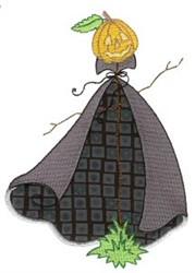 Jack-O-Lantern Ghost Applique embroidery design