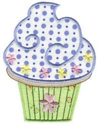 Pretty Cupcake Applique embroidery design