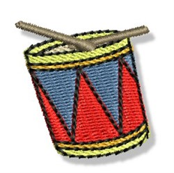 Mini Snare Drum embroidery design