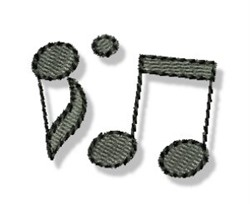 Mini Musical Notes embroidery design