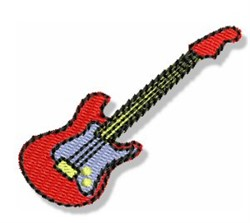 Mini Electric Guitar embroidery design