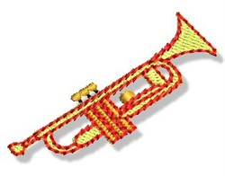 Mini Trumpet embroidery design