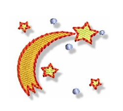Mini Shooting Stars embroidery design
