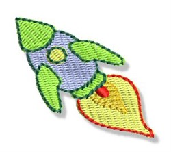 Mini Space Rocket embroidery design