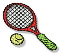 Mini Tennis Racket embroidery design
