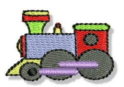 Mini Train Engine embroidery design