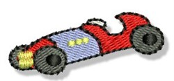 Mini Race Car embroidery design