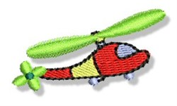 Mini Helicopter embroidery design