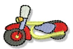 Mini Motorcycle embroidery design