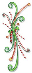 Christmas Doodads Border embroidery design