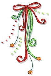 Christmas Doodads Ribbons embroidery design