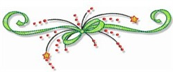 Christmas Doodads Ribbon Border embroidery design