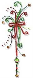 Christmas Doodads Ribbons Border embroidery design