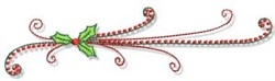 Christmas Doodads Holly Border embroidery design