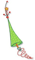 Christmas Doodads Tree embroidery design