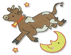 Cow Jumped Over The Moon embroidery design