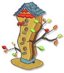 Country Snowman House Hat embroidery design