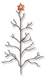 Country Christmas Tree embroidery design