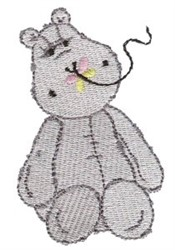 Hippo & Butterfly embroidery design