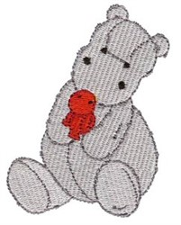 Hippo & Toy embroidery design
