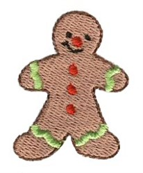 Christmas Mini Gingerbread Man embroidery design