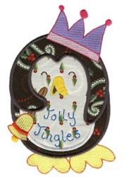 Christmas Penguin Applique embroidery design