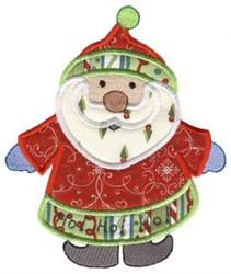 Christmas Santa Applique embroidery design
