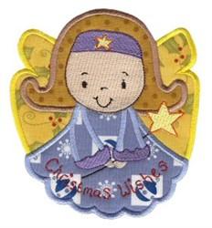 Christmas Angel Applique embroidery design