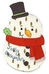 Christmas Snowman Applique embroidery design