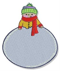 BubbaBoo In Winter Snowball embroidery design
