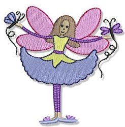 Flutterby embroidery design