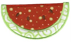 Watermelon Applique embroidery design