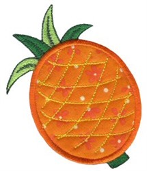Pineapple Applique embroidery design