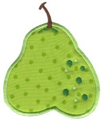 Pear Applique embroidery design