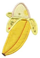Banana Applique embroidery design